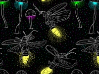 Fireflies and Glowing Mushrooms