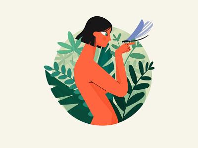 Dragonfly 🌱 green summer illustration procreate ipad girl nature dragonfly