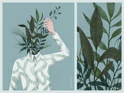 Poster #1 poster shirt green floral texture design ipad procreate illustration