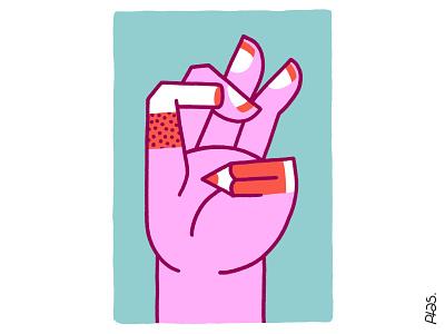 Sunday Doodle ✏️ poster designer fingers hand ipad procreate illustration