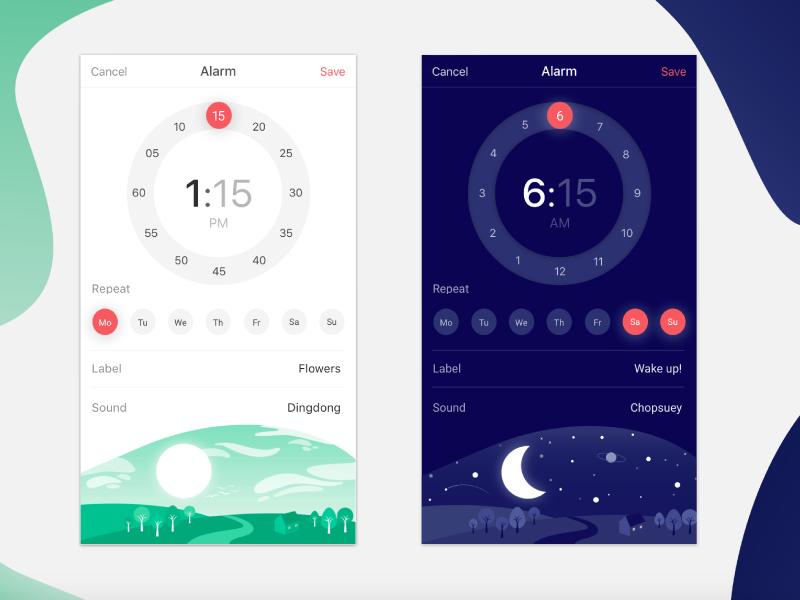 Clock concept illustration ui clock alarm