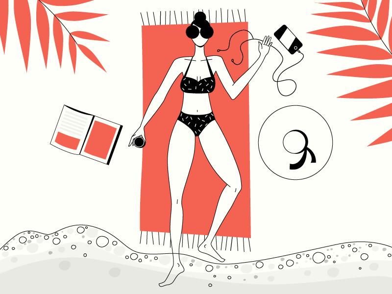 Beach, please! 🏖️ vacation beach ocean vector illustration summer