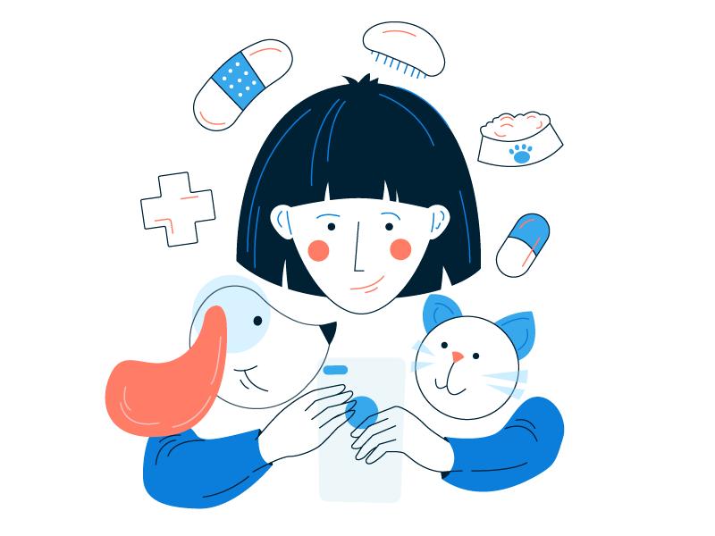Illustration #1 🐱🐶 app cat dog illustration