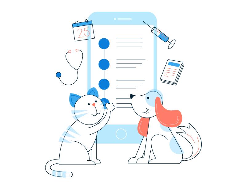 Illustration #2 🐱🐶 illustration dog cat app