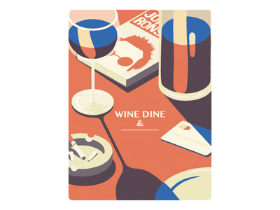 Wine & Dine 🍷🍽️ book dine wine procreate illustration