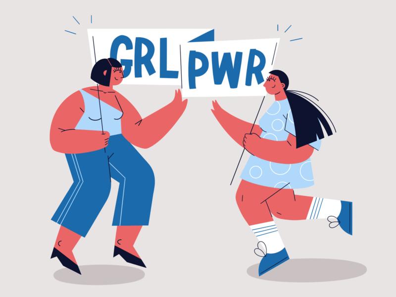 Girl Power ♀️ charachter design ipad procreate girl illustration