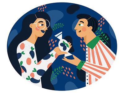 Plum 💁🙋♂️ gift sweets plum charachter design boy girl ipad procreate illustration