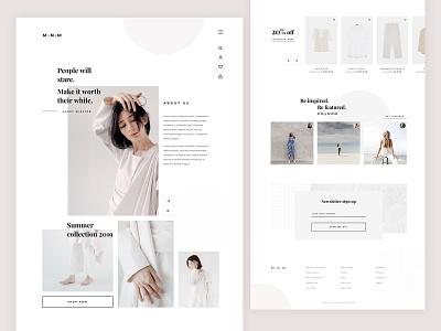 M N M 👡 ecommerce website concept mainpage design ui