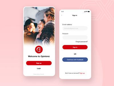 Splash-Sign in shot muudy convrtx red free uidesign uiux mobile ui mobile app intro splash logout login signup sign in