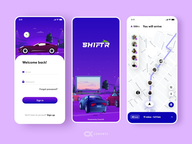 Car tracing app | AI Based Tracking convrtx freelance map tracking app artificialintelligence ai car mockup freebie free ui ux branding minimal design