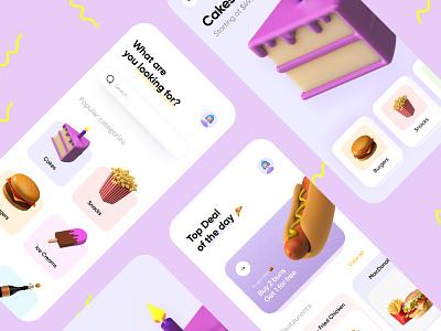 Food ordering app design food illustration food and drink food app playoff dailyui 3d icon minimal clean native development mobile app app modern illustration free ux ui design