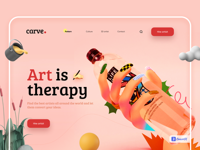 Hire artists - Web UI/UX Design 3d art muudy artists pattern art hand drawn 2d art illustration art website web design web modern minimal art vector dailyui illustration free ui ux minimal design