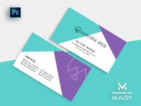 Aurora Web   Minimal & Stylish Business Card Design by MUUDY