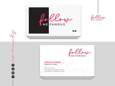 Cool & Minimal Business Card Design | MUUDY
