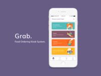 Grab - Food Ordering Kiosk System App.