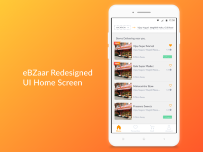 eBZaar Android App UI Redsign - Home page