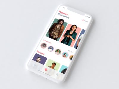 Popular Youtubers - Concept iOS App