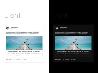 UI card light/dark theme