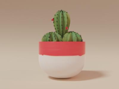 Cactus 3dmodeling colorful cactus vase 3d artist