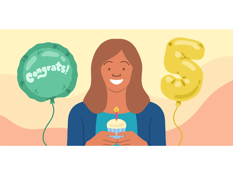 Employee Retention human illustration illustration flat illustration office cupcake balloons party retention