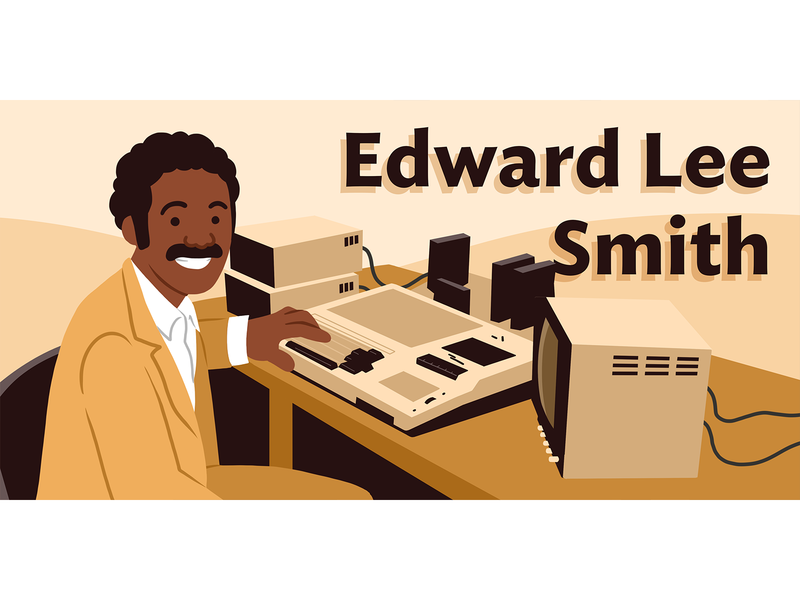 Ed Smith: Black History Month flat illustration illustration sepia old school black history edward lee smith ed smith black history month