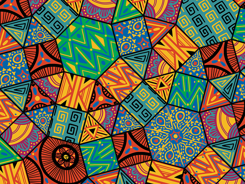 African Pattern african american geometric bright colors pattern african