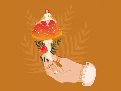 Magical mushroom floristober procreate magical autumn mood autumn colors autumn colors magic mushroom