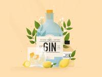 Gin fizz cocktail