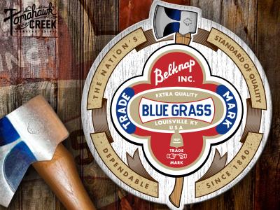Belknap blue grass axe crest decal