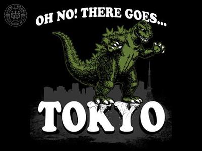 Godzilla - There Goes Tokyo Illustration