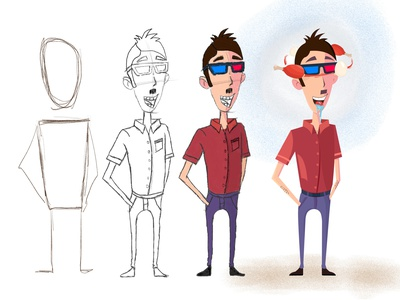 VR App Character cartoon mascot game sketch drawing character design food vector character vr