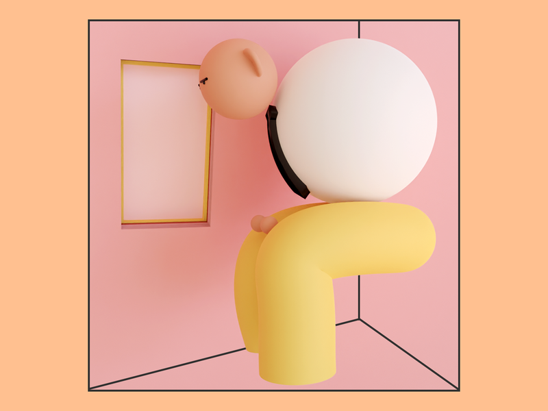 Cramped geometry characterdesign character start blender trends illustration design 3d art 3d