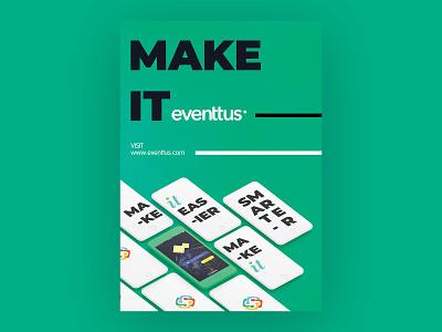 eventtus-Flyer up start flyer design design mobile apps typography trends