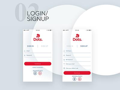 Login And Sign Up -  Loyalty System App signup sign in form log in trends ux ui start mobile apps loyalty program