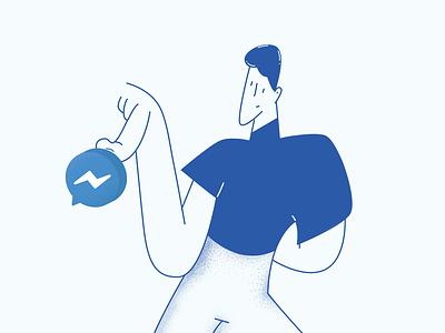 Blog Illustration messanger blog post illustration design