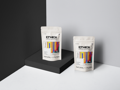 Ethica coffee rosters concept minimal packing design packing products coffee bean coffee shop coffee product branding product design ui design