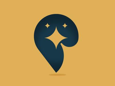 Star bird bird star negative space design illustration vector icon logo