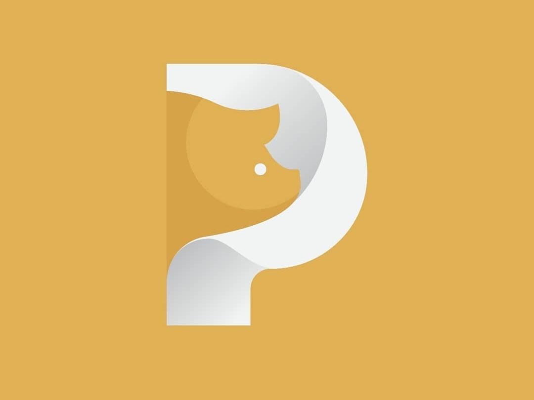 pig letter typography design icon logo
