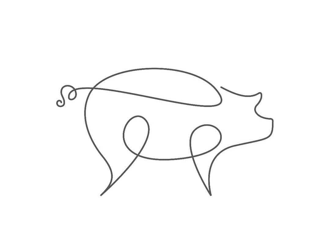 pig vector icon logo pig