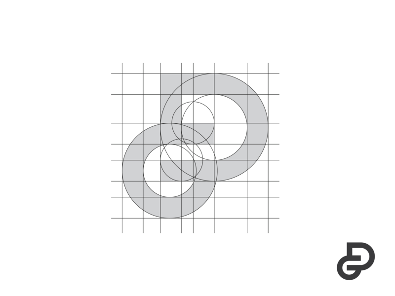 GD letter icon typography design logo