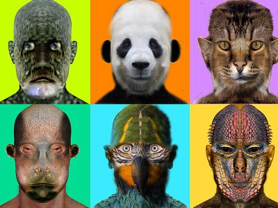 Anthropomorphism branding illustration photoshop