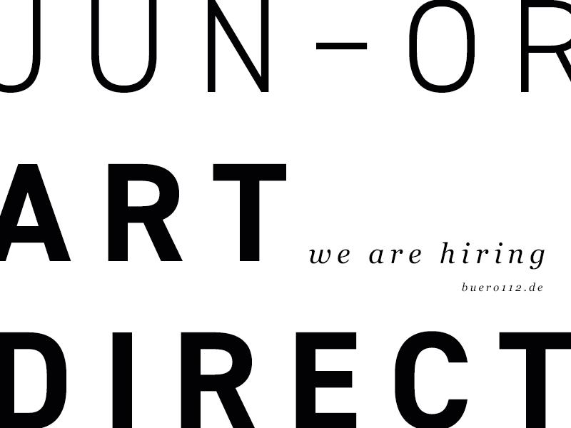 WE'RE HIRING - Junior Art Director ux designer juniorartdirector artdirector munich hiring ad junior