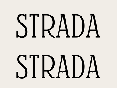 Strada. lettering font design font type design typography type