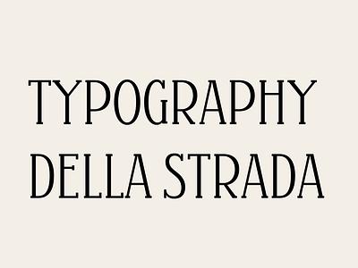 Strada 1 font type design typography type
