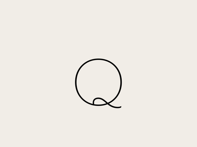 Q font design lettering typeface typography font type design