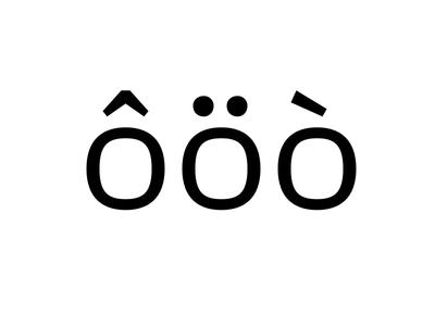 Rhodium – Diacritics
