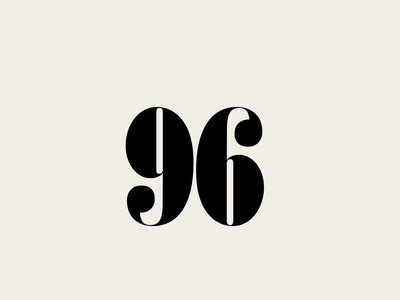 96 type typeface typography font type design