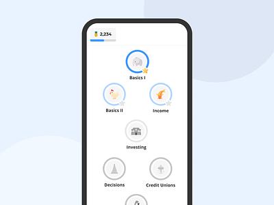 Financial Education App financial finance education duolingo mobile ui app financial education education app financial app