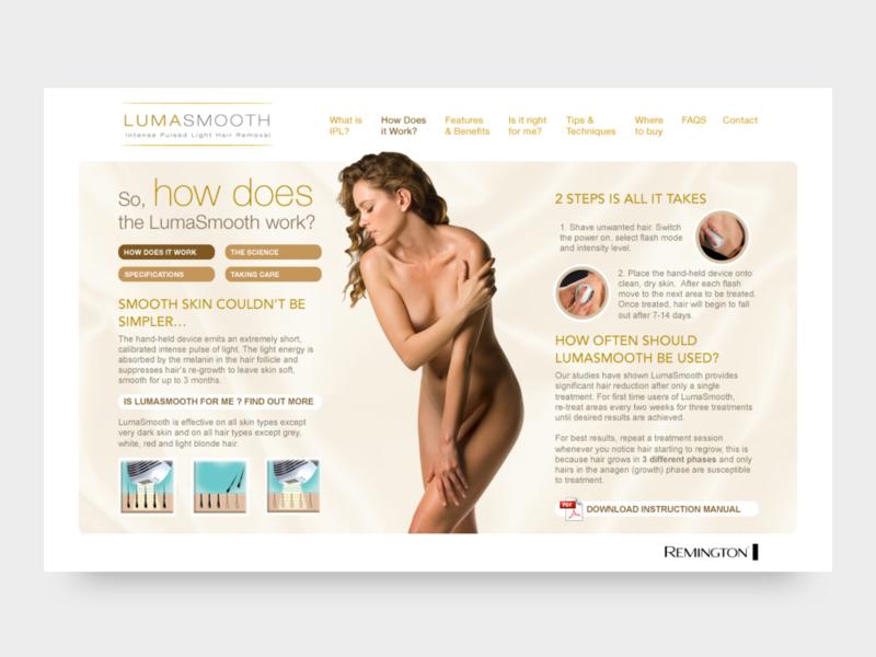 Lumasmooth website