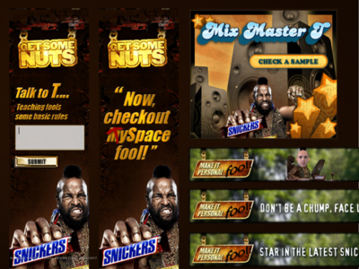 Banner ad campaign for Snickers Mr T 2008